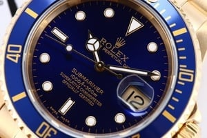 18K Yellow Gold Rolex Submariner