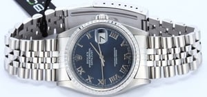 Rolex Steel Datejust 16220 Blue Roman