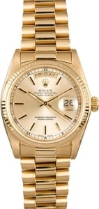 Rolex President 18038 Champagne Dial