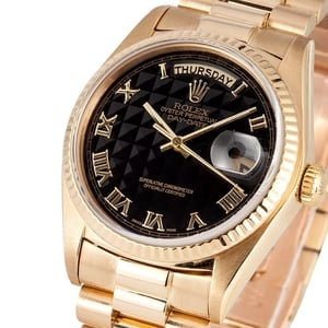 Rolex President Day-Date 18038 Black Roman Dial
