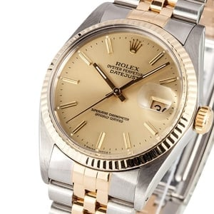 Men's Two Tone Rolex Datejust 16013