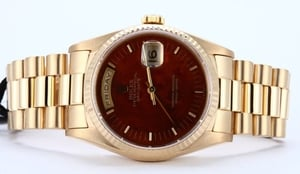 Rolex Day Date 18238 Exotic Wood Dial
