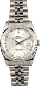 Rolex Datejust 116234 Silver Dial
