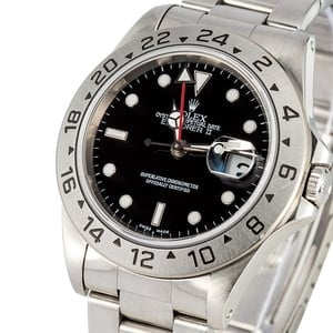Rolex Explorer II 16570 Black Dial Stainless