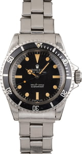 Vintage 1972 Rolex Submariner 5513 Feet First Dial