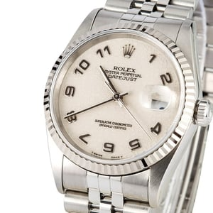 Rolex Datejust 16234 White Jubilee Dial