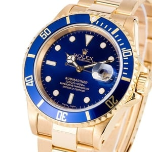 Rolex Submariner Yellow Gold 16618