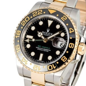 Rolex GMT Master II Steel and Gold 116713