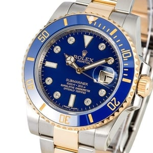 Rolex Submariner Two Tone 116613 Diamond Dial