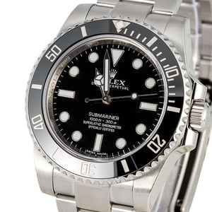 Rolex Submariner 114060 No Date Black