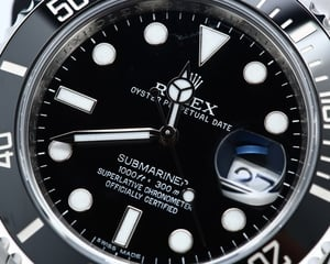 Rolex Submariner Black Ceramic Bezel 116610