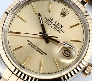 Rolex Datejust 16013 Two Tone 100% Authentic