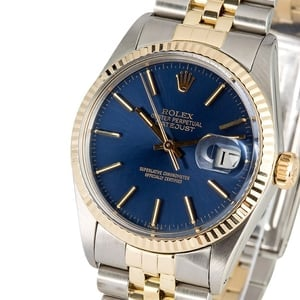 Rolex Datejust 16013 Blue Dial 100% Authentic