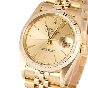 Rolex Datejust 16018 Yellow Gold Certified Pre-Owned