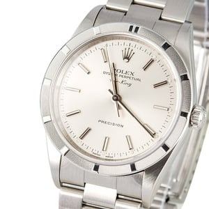 Rolex Air-King 14010 Silver Index Dial
