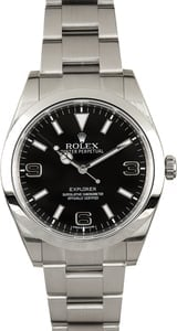 Rolex Explorer 214270 Black Dial Certified Pre-Owned