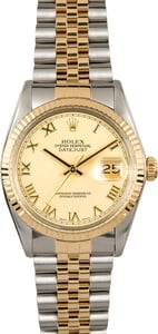 Certified Pre-Owned Rolex Datejust 16013 Two Tone