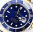 Rolex Steel and Gold Submariner 16613 Blue Dial