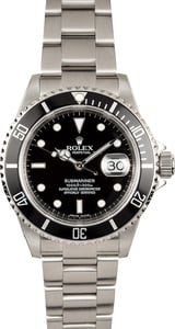 Rolex Men's Submariner Serial Engraved 16610