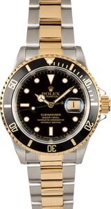 Rolex Submariner Black 16613 Two Tone