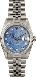 Rolex Datejust 16234 Diamond Sodalite