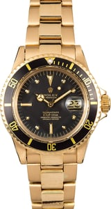 Rolex Vintage Submariner 1680 18K Yellow Gold