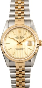 Rolex 36MM Datejust 16233 Tapestry Dial