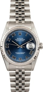 Rolex Datejust 16234 Blue Roman