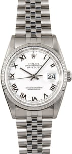 Rolex Steel Men's Datejust 16220 Certified Pre-Owned