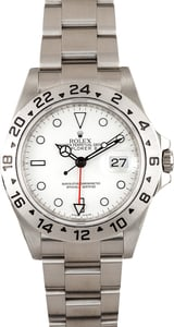 Rolex Explorer II Stainless Steel 16570 White TT