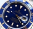 Two-Tone Rolex Blue Submariner 16613 Gold Clasp