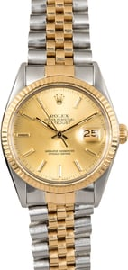 Rolex Datejust 16013 Jubilee Bracelet Certified Pre-Owned