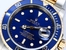Rolex Blue Submariner 16613 Serial Engraved
