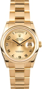 Men's Rolex President Gold Day-Date 118208 Pre-Owned