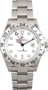 Pre-Owned Men's Rolex Explorer II 16570 100% Authentic