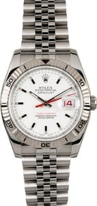 Rolex Datejust Turn-O-Graph 116264 White Dial