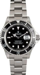 Rolex Submariner Stainess 16610T Black