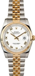 Rolex Two-Tone Datejust 116233 Roman Dial