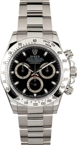 Rolex Steel Daytona 116520 Black