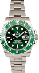 PreOwned Rolex Submariner 116610LV Green 'Hulk' Bezel