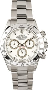 Rolex Stainless Steel Daytona 116520 White Dial