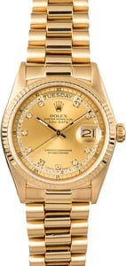 Rolex Day-Date Diamond Dial 18038