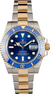 Rolex Ceramic Submariner 116613 Sunburst Blue Dial