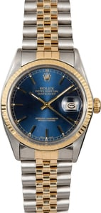 Datejust Rolex Blue Dial 16013