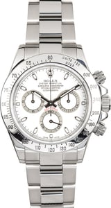 Rolex Stainless Steel Daytona White