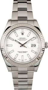 Rolex Datejust II 41MM 116334 White Dial