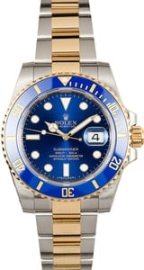 Rolex Submariner 116613LB Sunburst Blue Two Tone Watch