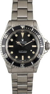 Vintage 1970 Rolex Submariner 5513 Unpolished