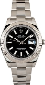 Pre-Owned Rolex Datejust II Ref 116334 Black Dial