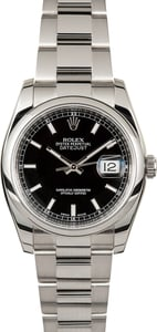Rolex Datejust 116200 Black Index Dial